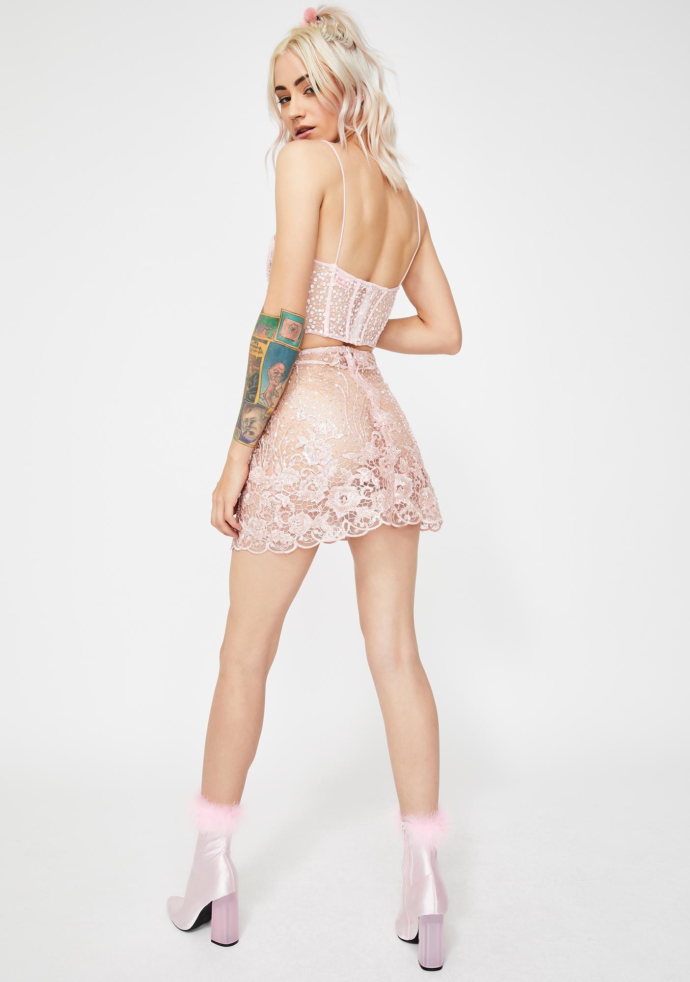 Dyspnea Devilish Beaded Skirt