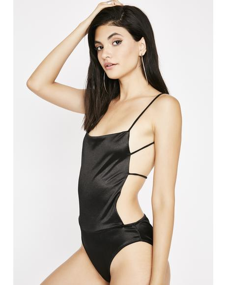 Fresh Off Da Runway Satin Bodysuit