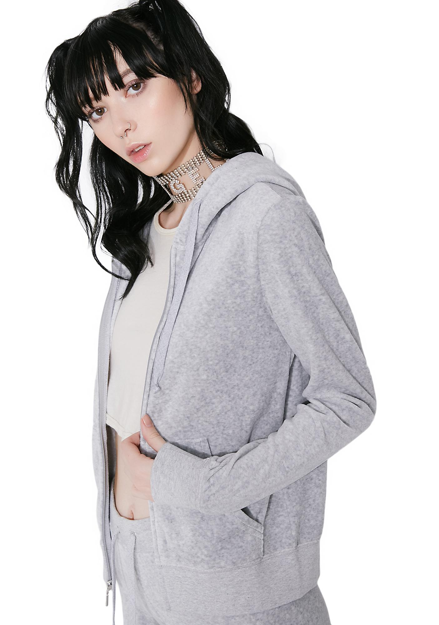 JUICY COUTURE Silver Lining Robertson Velour Jacket