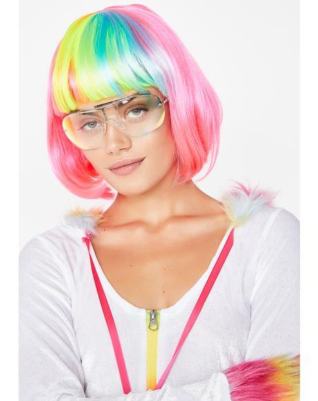 Pop Rainbow Bob Wig