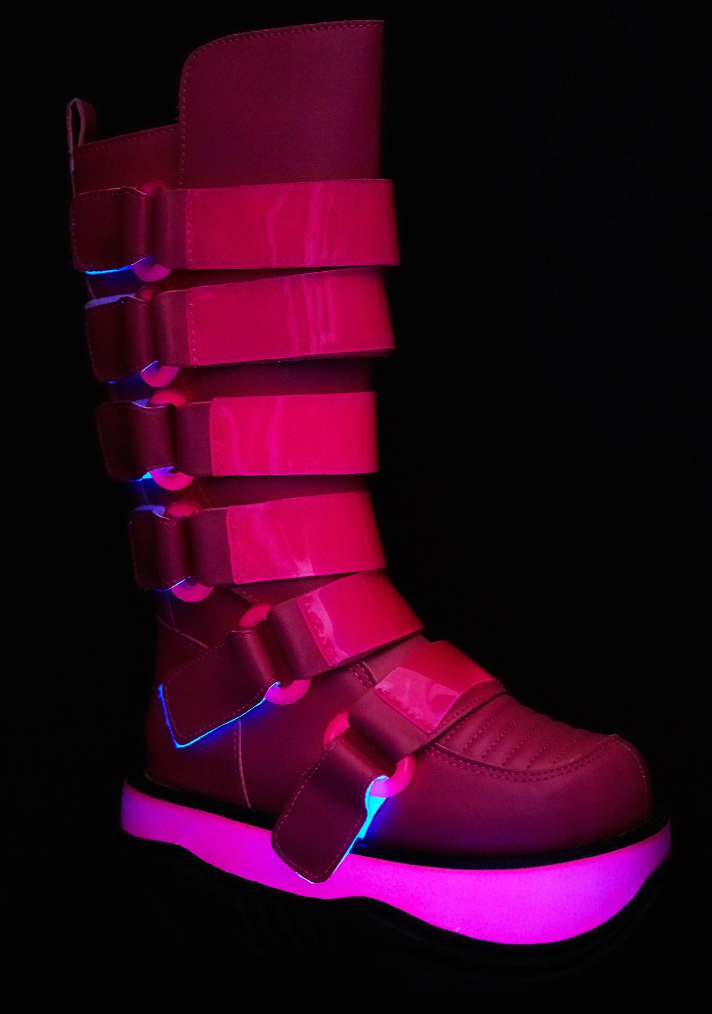 Demonia Neptune UV Reactive Platform Boots