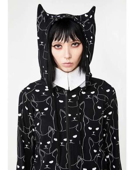 Bitter Kitty Graphic Hoodie