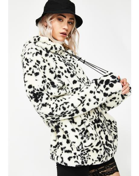Dalmatian Print Teddy Jacket