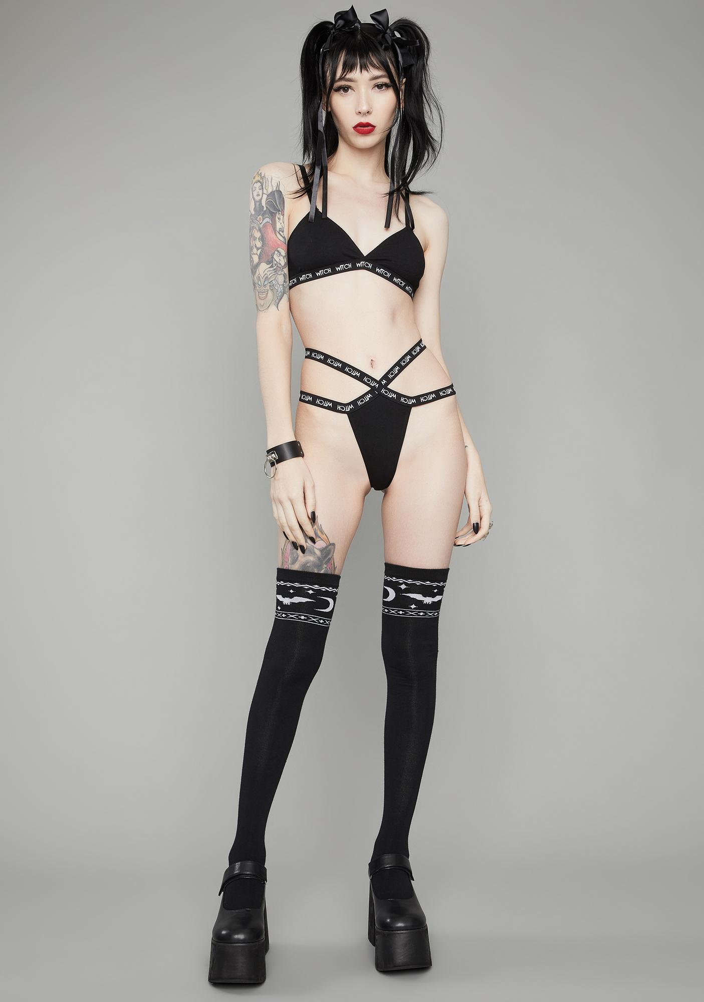 Dolls Kill Under The Moonlight Thigh High Socks