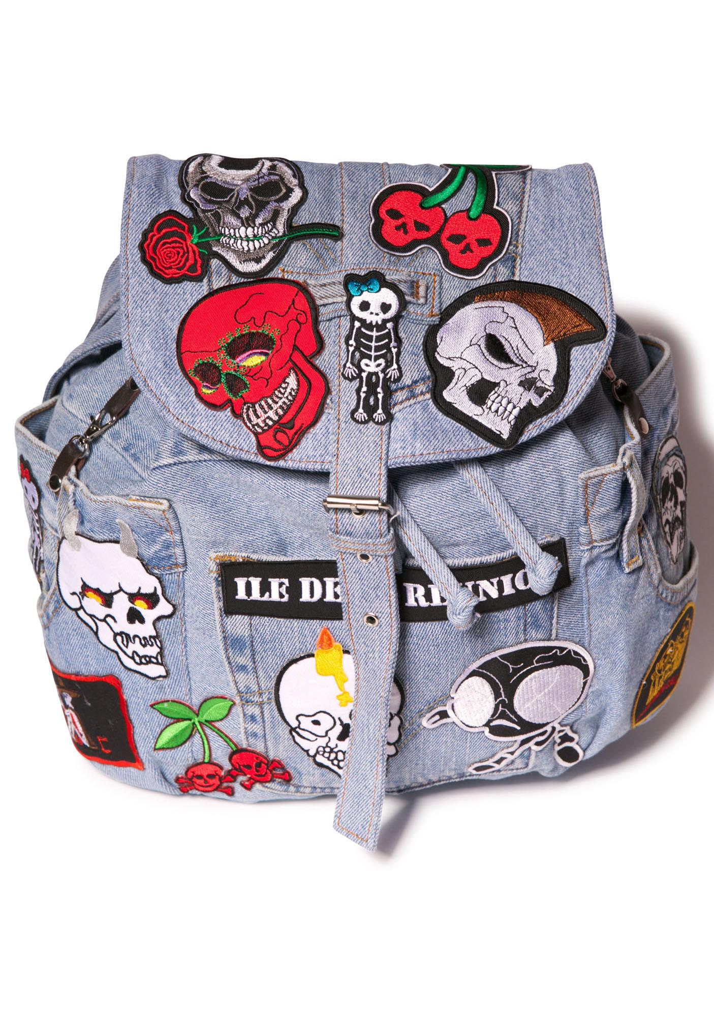 Skull Ride Satchel Bag