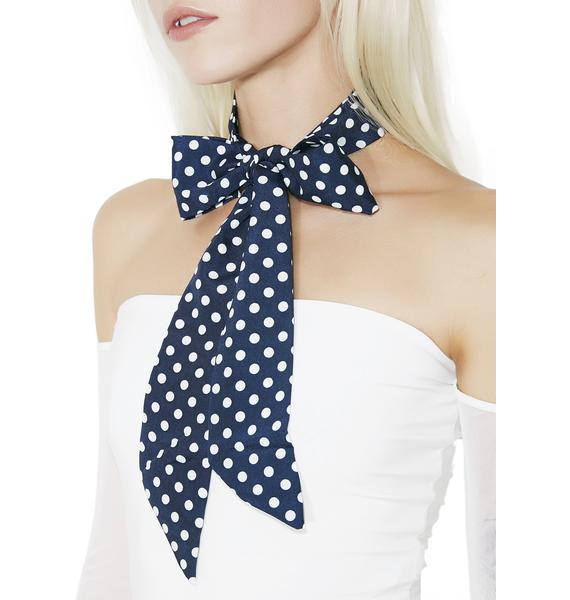 French Riviera Dotted Neck Scarf