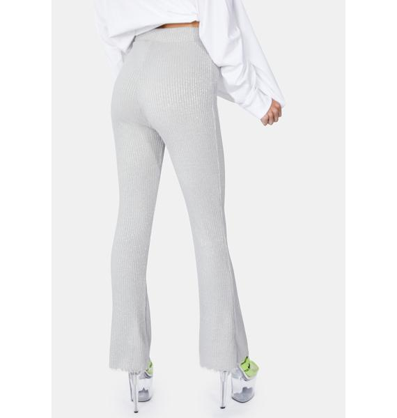x-Girl Silver Glitter Jersey Pants