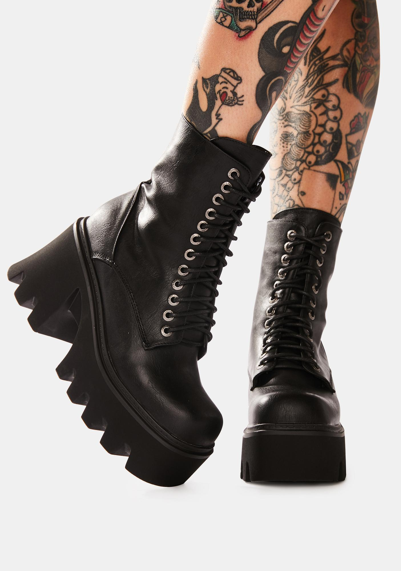 Lamoda Let's Loosen Up Lace Up Boots