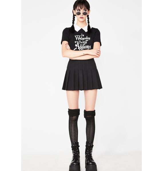 Dolls Kill Creepy Addams Babe Costume Tee