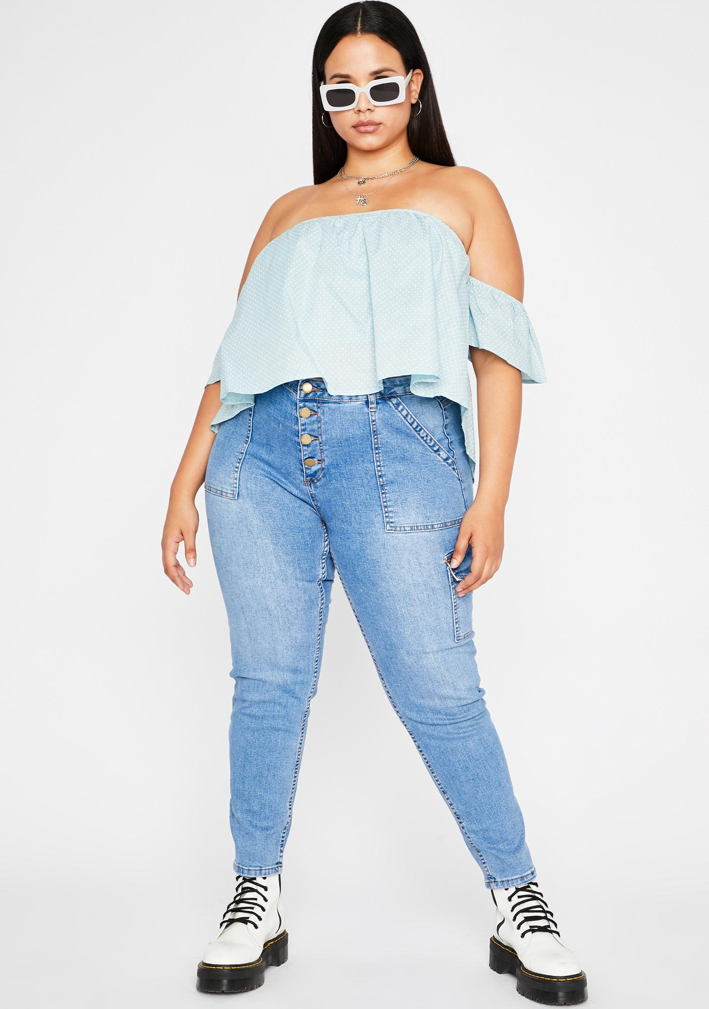 Sky Total People Person Crop Blouse
