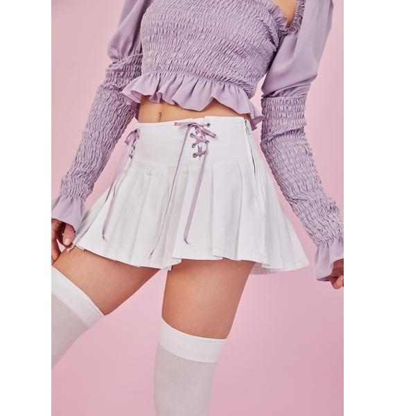 Sugar Thrillz One And Only Lace Up Pleated Skirt