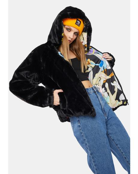 Looney Toons Faux Fur Jacket