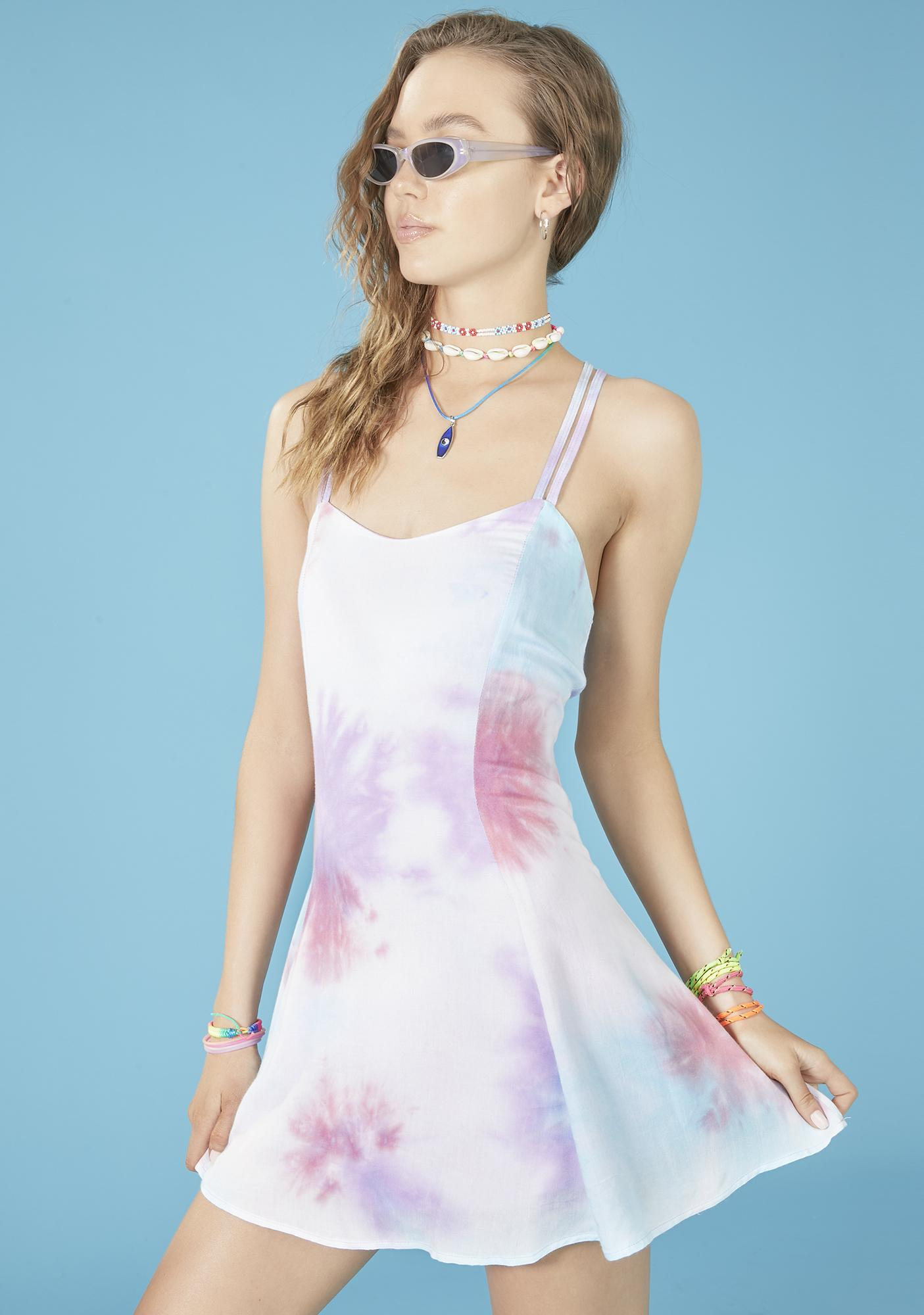 dELiA*s by Dolls Kill Pacific Dream Tie Dye Dress