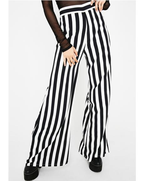 Pretty Crime Striped Pants