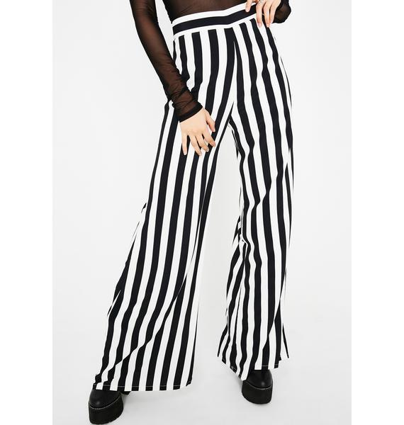 Pretty Crime Striped Pants
