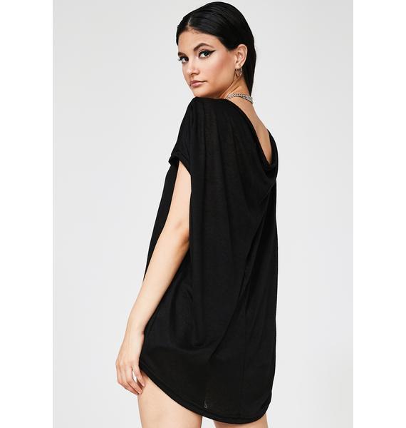 MNML Dark Matrix Ruched Sleeve T-Shirt