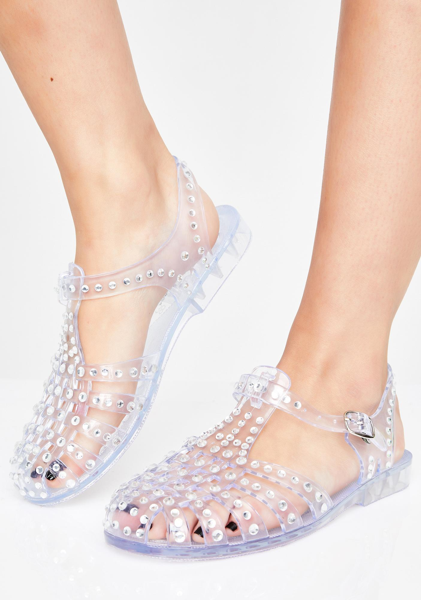 Totally Jelly Clear Sandals