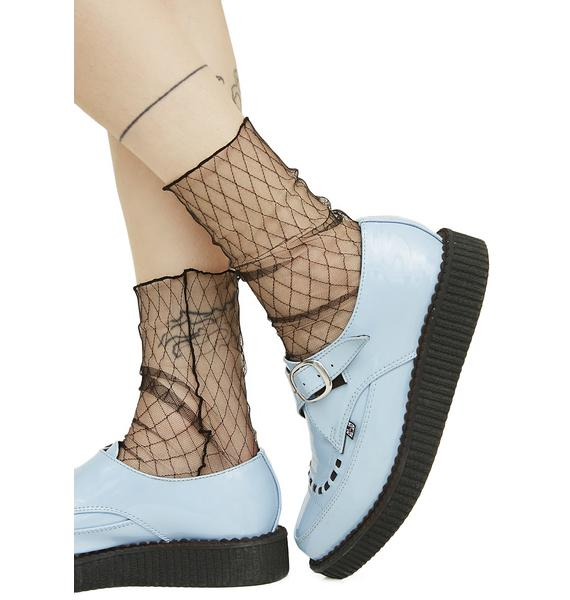 On The Fence Sheer Fishnet Socks