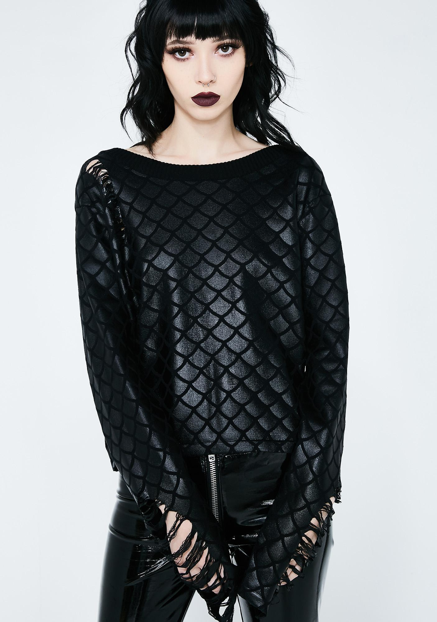Killstar Siren Mermaid Knit Sweater