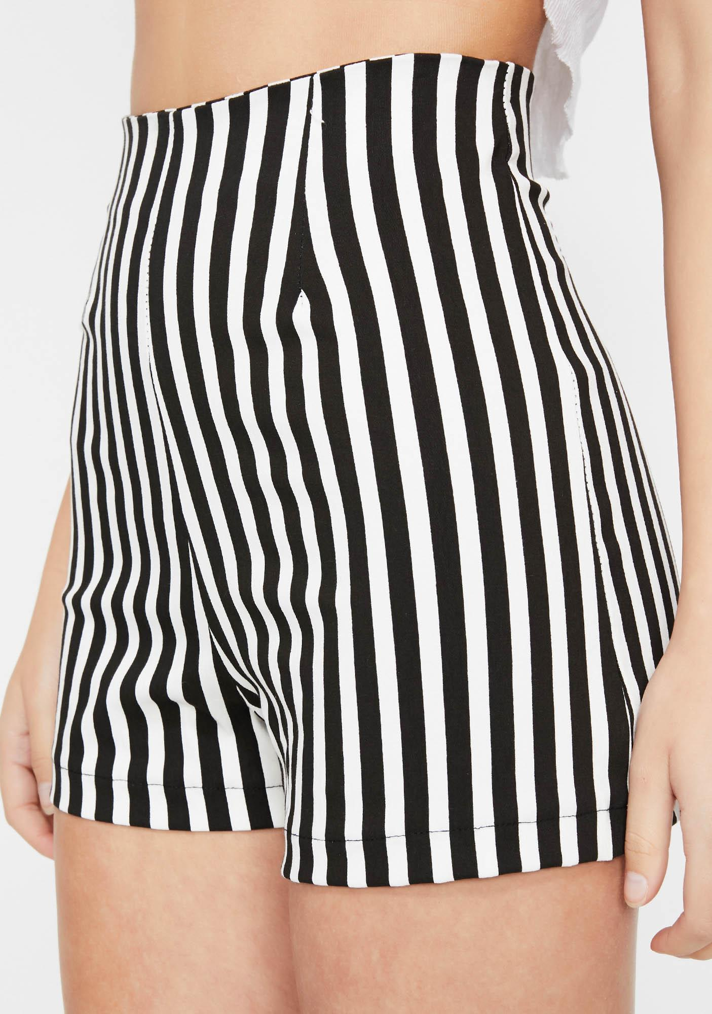 Color Me Baddie Striped Shorts