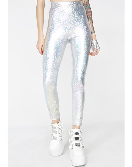 Hologram Chose Party Life Leggings