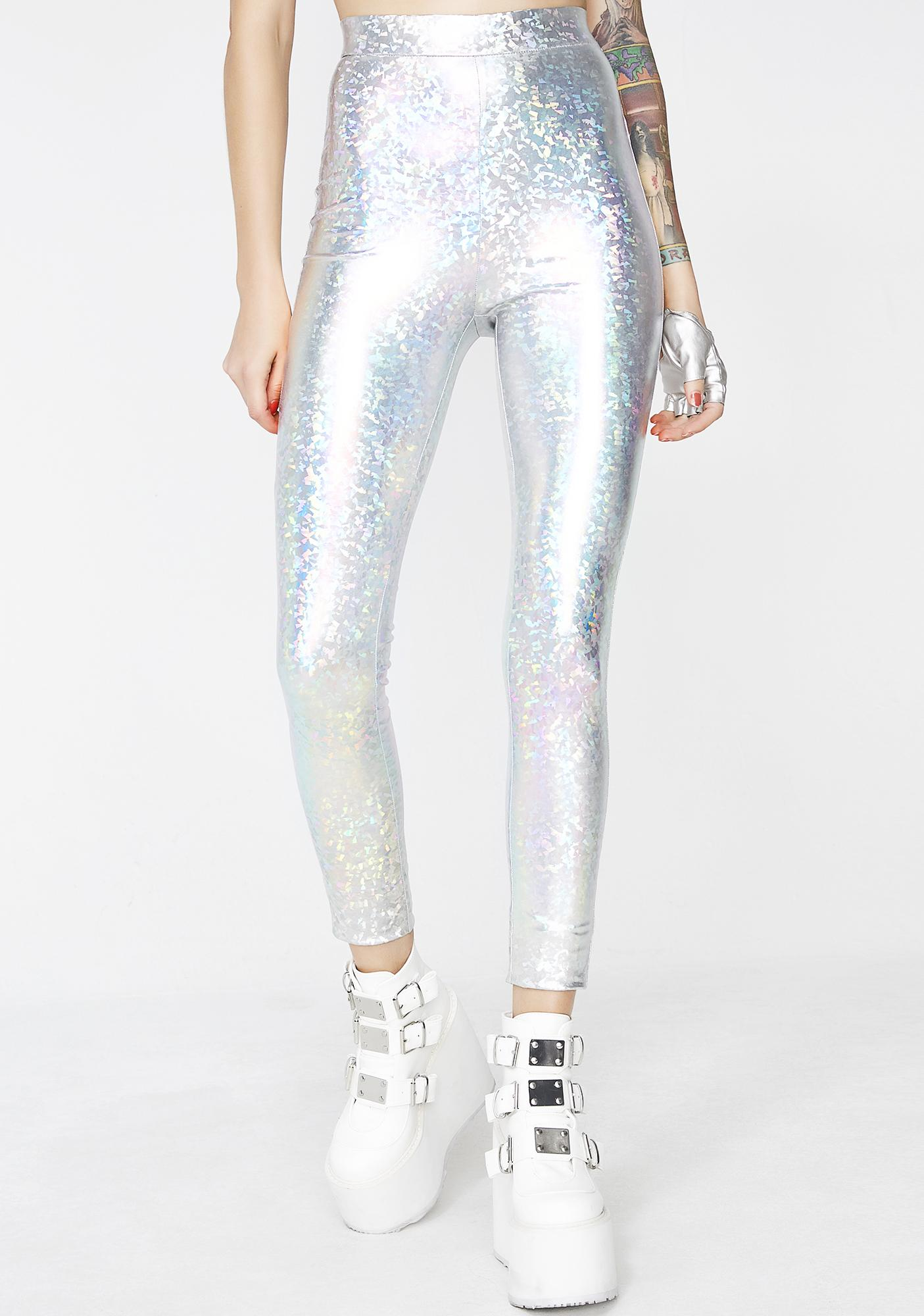 Hologram Chose Party Life Leggings