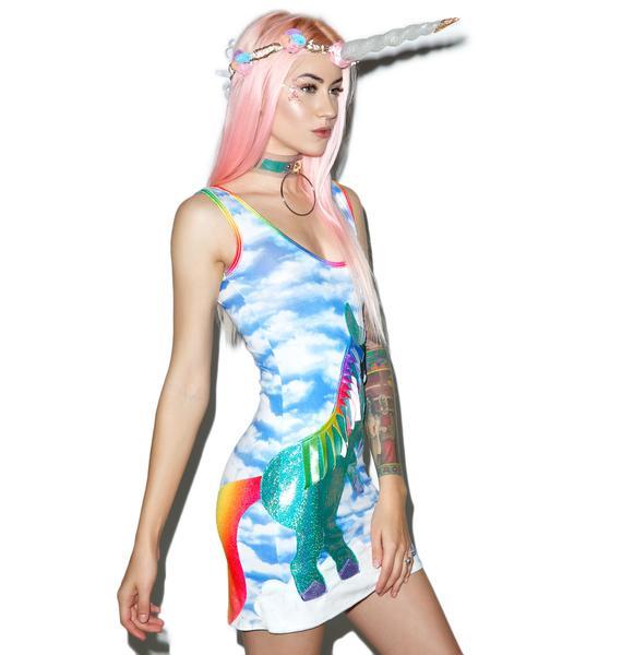 J Valentine Unicorn Queen Bodycon Dress