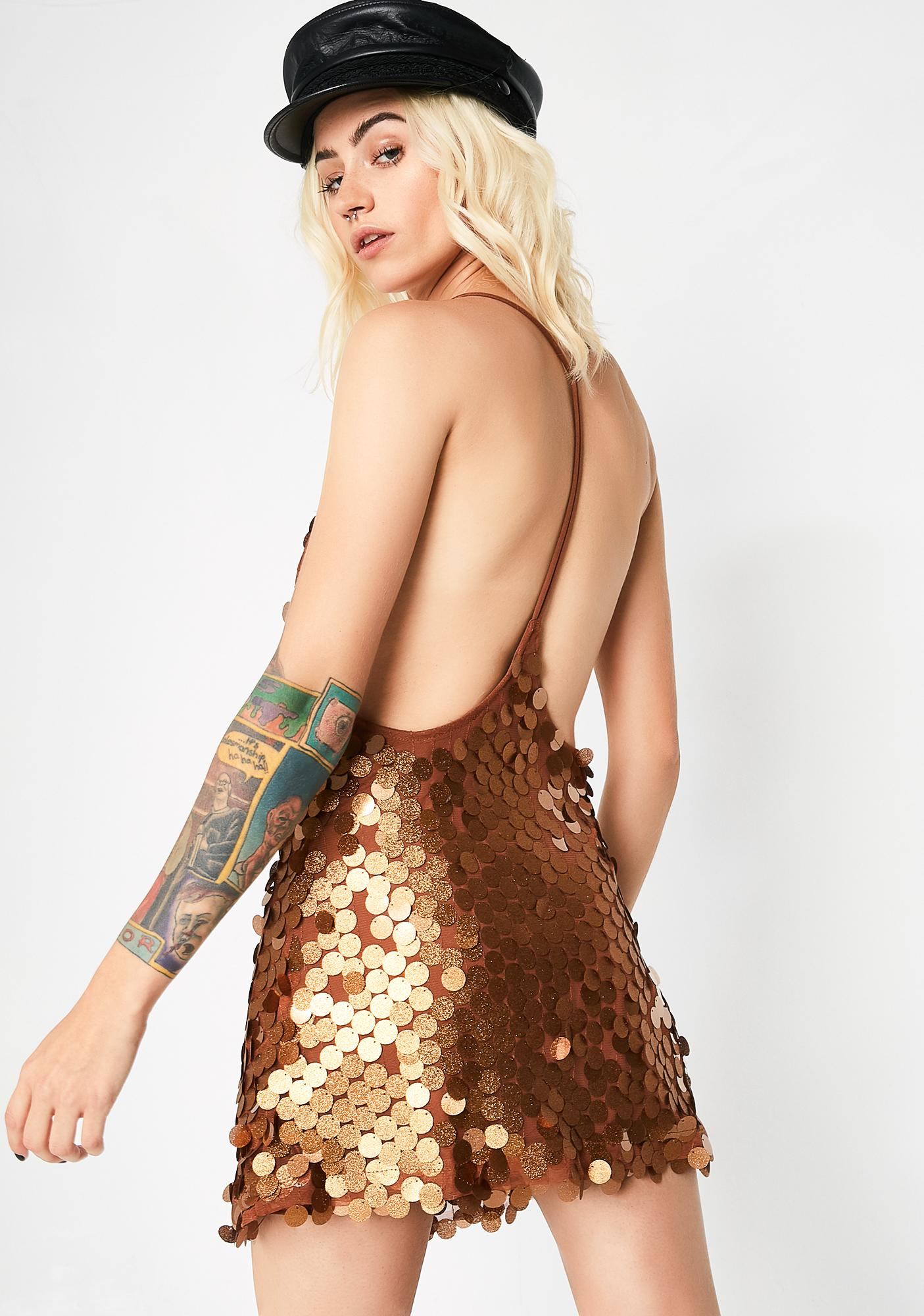 Motel Bronze Finn Dress