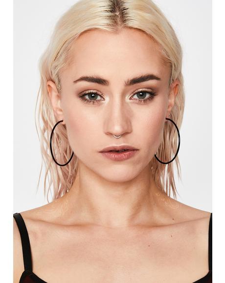 Back Stabbin' Hoop Earrings