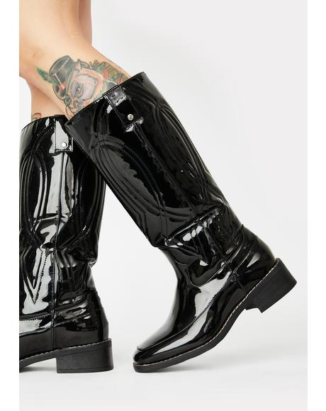 Noir Put Out My Fire Cowboy Boots