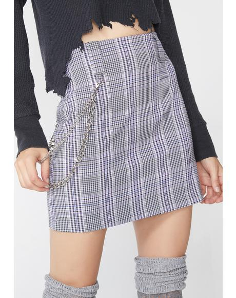 Royal Xxxtra Credit Plaid Skirt