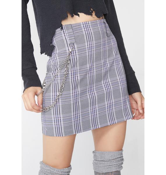Royal Xxxtra Credit Plaid Skirt