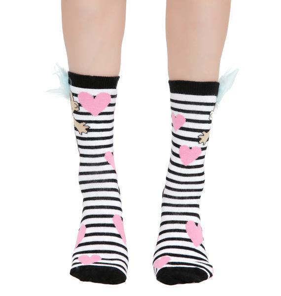 Gumball Poodle Prisoner Of Love Crew Socks