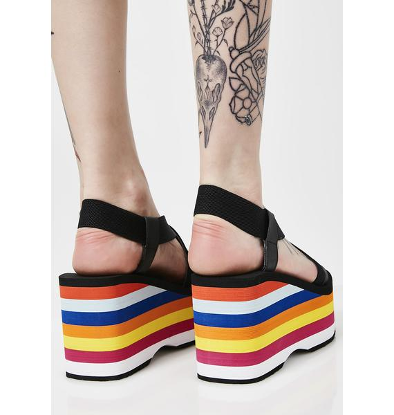 Rocket Dog Rainbow Platform Sandals