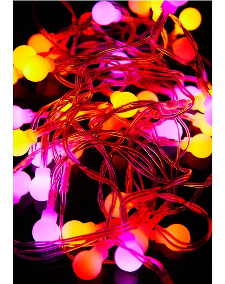 Pink Multi Color String Lights