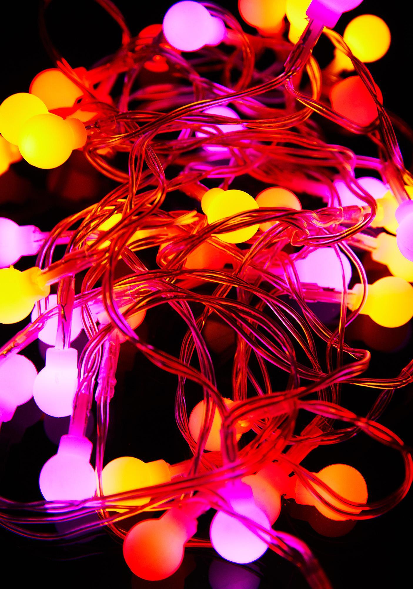 Pink Multi Color String Lights