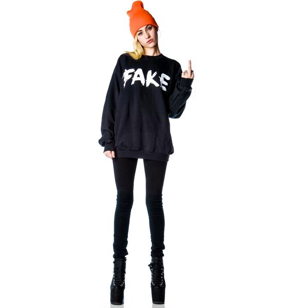 Petals and Peacocks Fake Sweatshirt