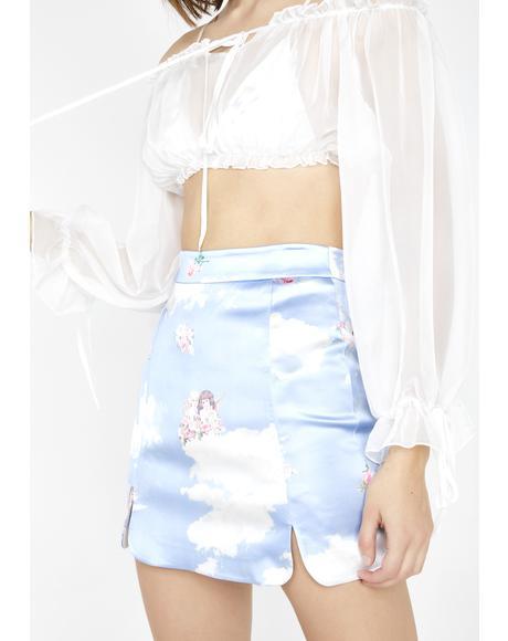 Celestial Sass Satin Skirt