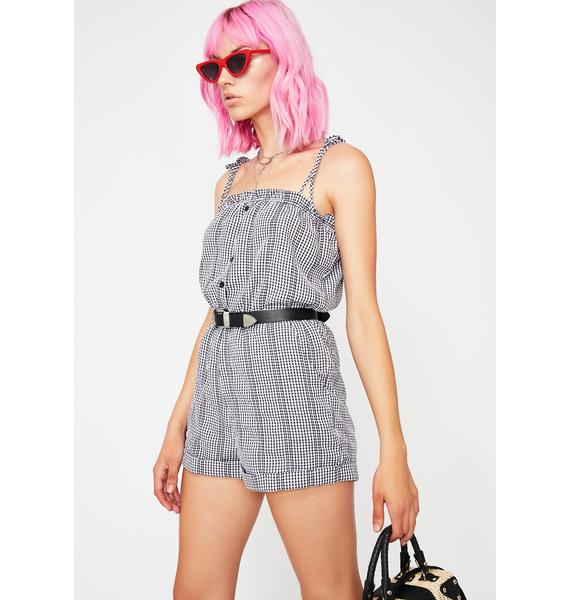 In The Hamptons Gingham Romper