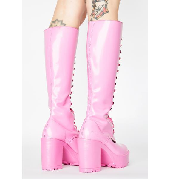 ROC Boots Australia Pink Lash Boots