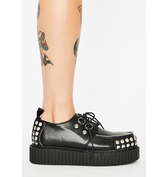 Lamoda Keepin' It Real Studded Creepers