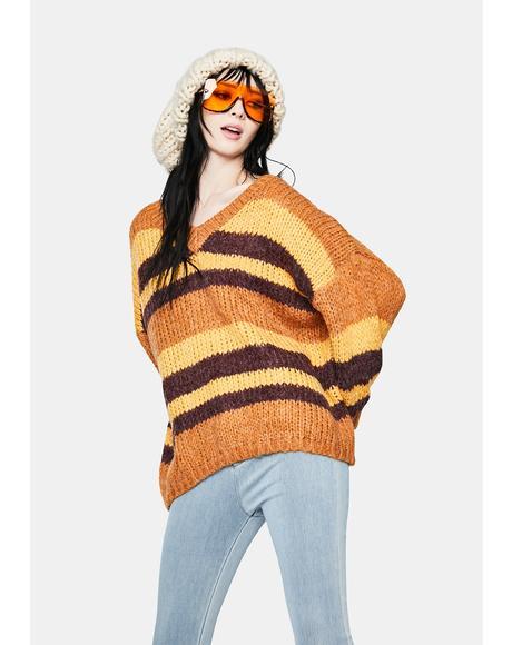 Mustard Sage Serenity V-Neck Sweater