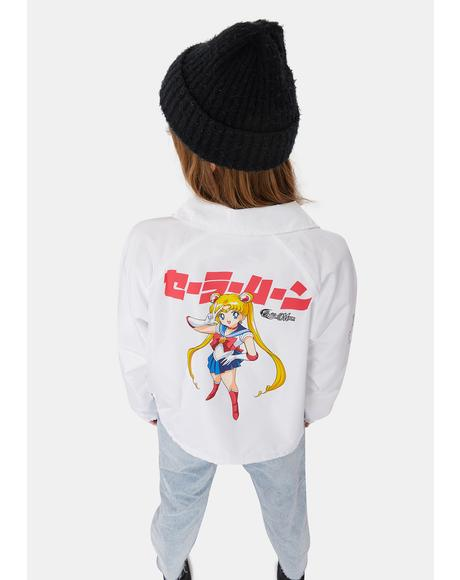 Sailor Moon Crop Coaches Jacket