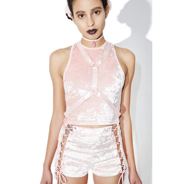 Current Mood Princess Velvet Crushin' Harness Crop