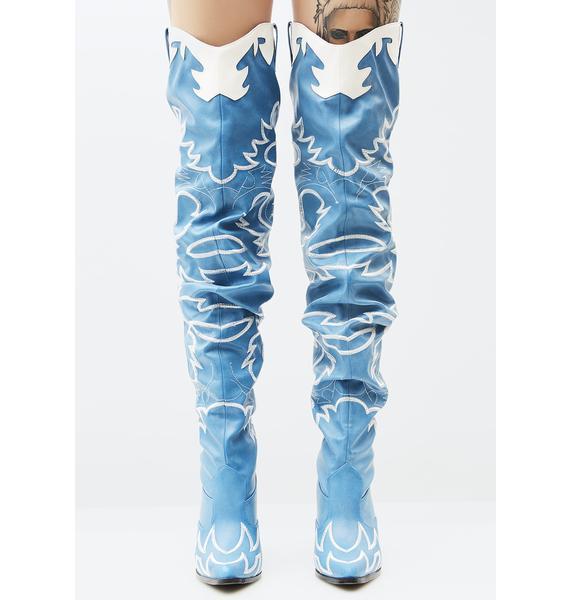 Denim Love Bandit Cowgirl Boot