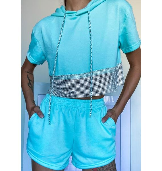 Topaz Bold Bling Shorts Set