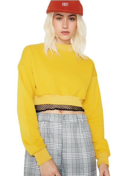 Tweet Me Cropped Sweater