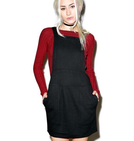 For Love & Lemons Noir Ella Overall Dress