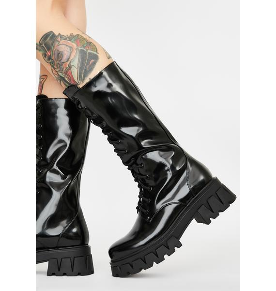 Koi Footwear Trinity Patent Calf High Boots