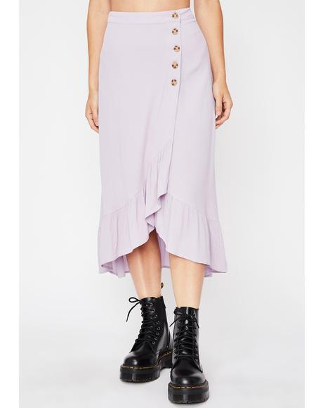Grape Give Me One Reason Midi Skirt